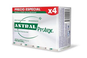 Pack de 4 Jabones de Tocador ASTRAL Plata en Tienda Inglesa