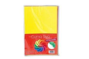 Goma Eva OMEGA A4 Autoadhesiva Lisa x 10 Colores Surtidos en Tienda Inglesa