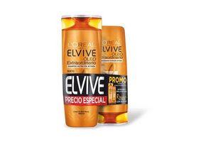 Oferta Elvive L'ORÉAL Shampoo Óleo Extraordinario 400 ml + Acondicionador 200 ml en Tienda Inglesa