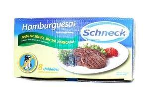 Hamburguesas SIN SAL SCHNECK Congeladas 100% Carne Vacuna x8 668g en Tienda Inglesa