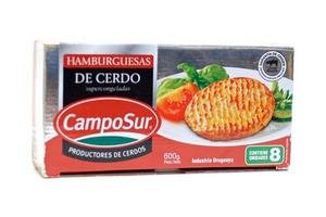 Hamburguesas de Cerdo Congeladas CAMPOSUR x8 600g en Tienda Inglesa