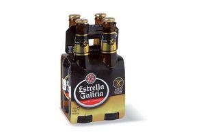 Pack 4 Cervezas ESTRELLA GALICIA sin Gluten botella 330ml en Tienda Inglesa