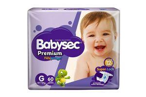 Pañales de Bebé BABYSEC Premium Flexiprotect Talle G x 60 Pañales en Tienda Inglesa