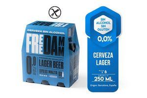 Pack 6 Cervezas DAMM Free 0,0 % sin Alcohol Botella 250ml en Tienda Inglesa