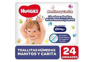 Toallitas Húmedas HUGGIES Manitos y Carita x 24 Unidades en Tienda Inglesa