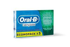 Pack  Económico de 3 Cremas Dentales ORAL-B Complete en Tienda Inglesa