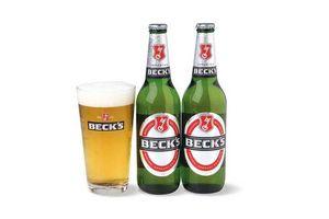 Pack 2 Cervezas BECKS Botella 500ml + Vaso en Tienda Inglesa