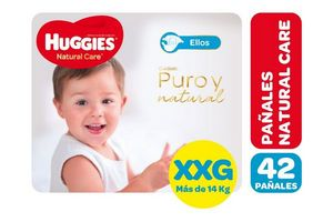 Pañal HUGGIES Natural Care XXG x 42 Pañales en Tienda Inglesa