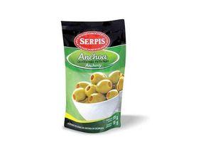 Aceitunas Verdes SERPIS  Rellenas con Anchoa Sachet 170g en Tienda Inglesa