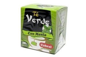 Té verde CABRAL con Menta 10 Sobres en Tienda Inglesa