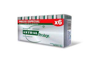 Pack 6 Jabones ASTRAL Protex Plata 750 gr en Tienda Inglesa