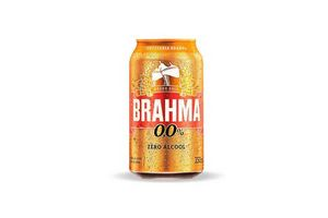 Cerveza BRAHMA 0.0% sin Alcohol 350ml en Tienda Inglesa