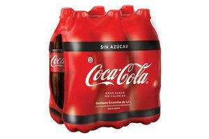 Pack de 6 Refrescos COCA COLA sin Azúcar en Botellas de 1,5l en Tienda Inglesa