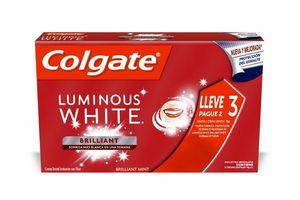 Pack Ahorro de 3 Crema Dental COLGATE Luminous White 70 gr en Tienda Inglesa