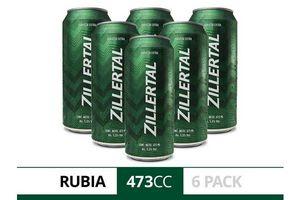 Pack 6 Cervezas ZILLERTAL Lata 473 ml en Tienda Inglesa