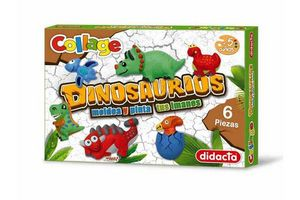 Moldea y Pinta Tus Imanes de Dinosaurios en Tienda Inglesa