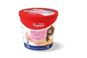 Helado Triple TIENDA INGLESA de Frutilla, Vainilla y Chocolate 1.9l en Tienda Inglesa