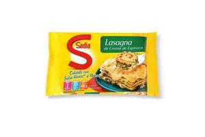 Lasagna Congelada de Crema de Espinaca cubierta con Salsa Blanca y Queso SADIA 600g ¡Rinde 2 Porciones! en Tienda Inglesa