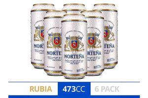 Pack 6 Cervezas NORTEÑA Lata 473 ml en Tienda Inglesa