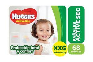 Pañal HUGGIES Active Sec talle XXG 68 Unidades en Tienda Inglesa