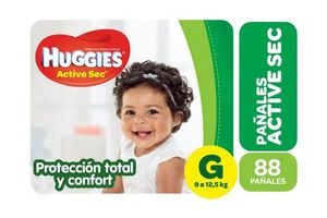 Pañal HUGGIES Active Sec Grande 88 Unidades en Tienda Inglesa