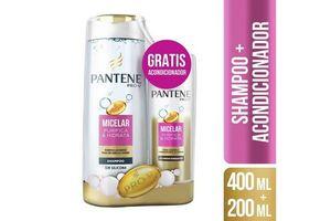 Shampoo PANTENE Micelar 400 ml + Acondicionador 200 ml en Tienda Inglesa