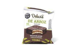 Alfajor de Arroz DELUXE & BLA BLA Relleno de Dulce de Leche Bañado en Chocolate 28g en Tienda Inglesa