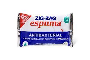Toallas Húmedas Antibacterial ZIG ZAG  X8 en Tienda Inglesa