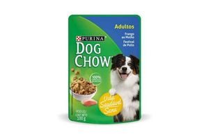 Comida para Perros DOG CHOW Sabor Carne, Leche y Arroz 100 gr en Tienda Inglesa