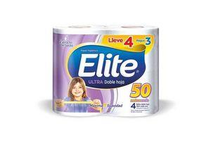 Papel Higiénico ELITE Ultra Doble Hoja 50 metros 4x3 en Tienda Inglesa