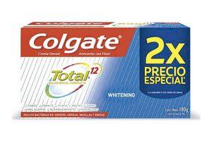 Crema Dental COLGATE Total 12 Clean Mint 90g x 2 Unidades en Tienda Inglesa