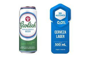 Cerveza GROLSCH 0.0%  sin Alcohol Lata 500ml en Tienda Inglesa