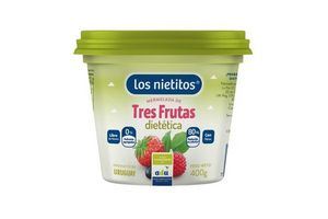 Mermelada Tres Frutas Diet LOS NIETITOS 400 gr en Tienda Inglesa
