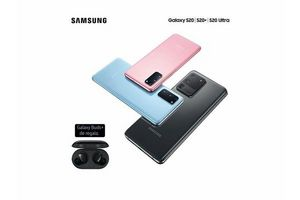 "Celular SAMSUNG Galaxy S20 PLUS 6.7"" 128GB 8GB RAM 64MP 30x BLUE en Tienda Inglesa"