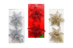 Flor Clip Brillo Navidad x 2 Unidades en Tienda Inglesa