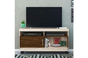 Rack TV Color Off White con Madera en Tienda Inglesa