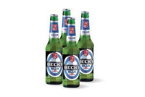 Cerveza BECKS ln Sin Alcohol  330ml x 4 + Copa en Tienda Inglesa