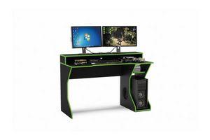 Escritorio Gamer Fremont Negro/Verde 130 X 59 X 75 en Tienda Inglesa