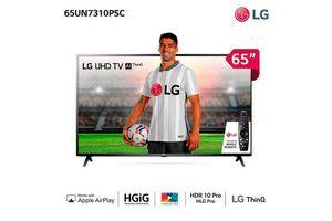 """Smart Tv LG 65""""  UHD 4K AI Experiencia de Cine en Tienda Inglesa"""