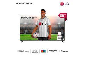 "Smart Tv LG 86""  UHD 4K AI Active HDR en Tienda Inglesa"